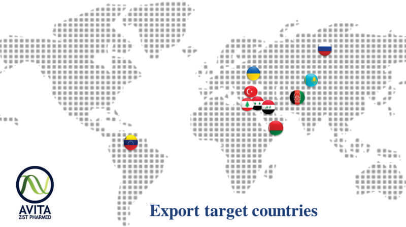 Export Target Countries Avita Zist Pharmed